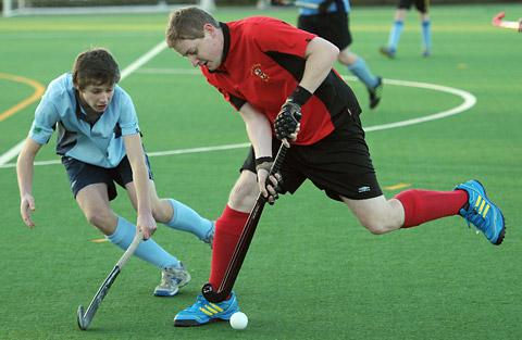City  of York VI's James Wallis moves into Driffield II  territory during his side's 4-0 home victory  in Yorkshire League  division five north