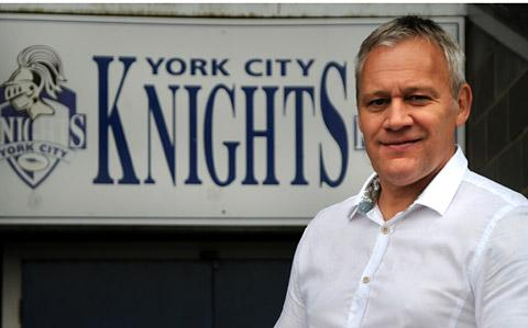York City Knights coach  Gary Thornton