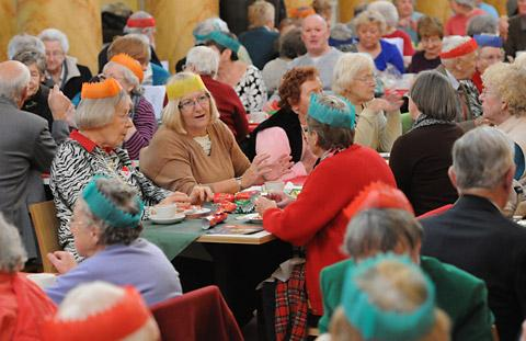 People enjoying the festivities at last year's Christmas Cheer event