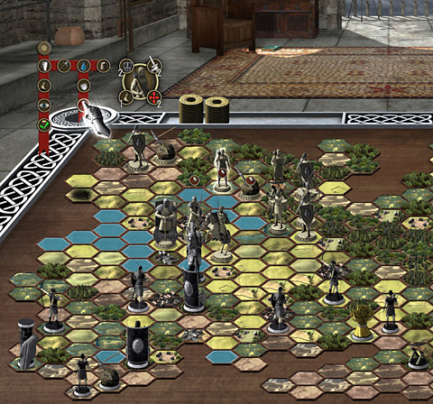 A screenshot of the Jaraph's Table game being developed by New Moon Games