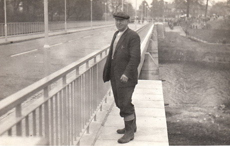 York Press: Mac standing on the finished bridge