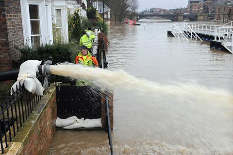 York Press: Water is pumped out into the River Ouse from Peckitt Street, York