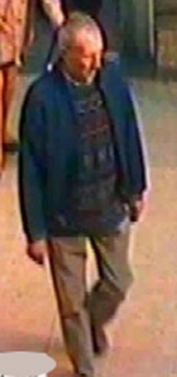 The CCTV image released by police after a girl was touched indecently at York train station