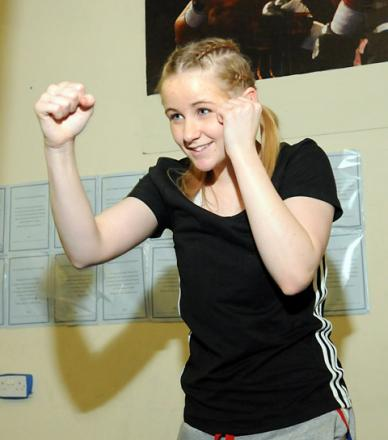 Courtney Catterson  at York Amateur Boxing Club
