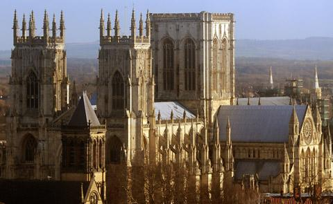 York Minster, whose walls are vulnerable to erosion
