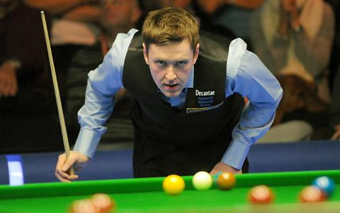 Ricky Walden studies the table during his run to the last four of last year's UK Snooker Championship in York