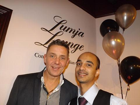 White Horse owner Sean Singleton and Lumja Lounge manager Mohsin Khan