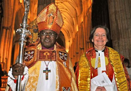 Hundreds of clergy and dignitaries were at York Minster to witness the ceremonial installation of the cathedral's new Dean - The Very Rev Vivienne Faull