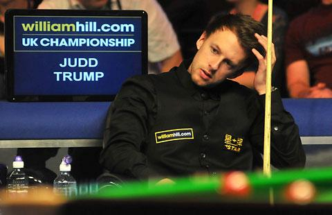 Defending champion Judd Trump was dumped out by Mark Joyce