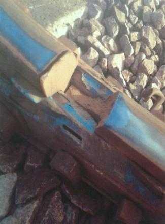 The five-inch gap in a rail track at Colton Junction