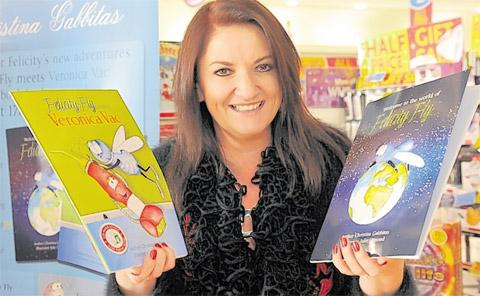 Christina Gabbitas at a recent                  book signing event at Monks Cross