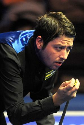 Matthew Stevens is a study in concentration during his 6-1 win over Dominic Dale at the B