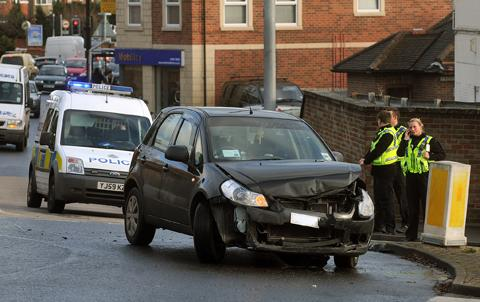 Driver's escape injury in Acomb crash