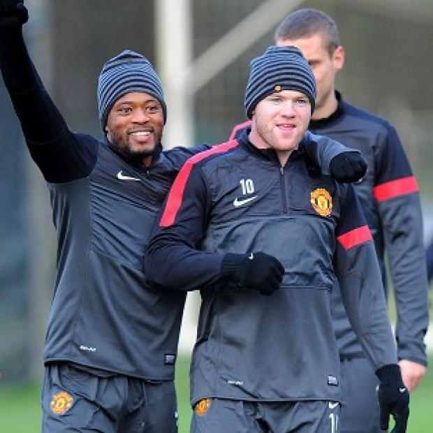 Wayne Rooney, right, will start against CFR Cluj on Wednesday night