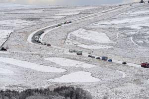 This could be the scene on highest parts of the North York Moors by tomorrow morning