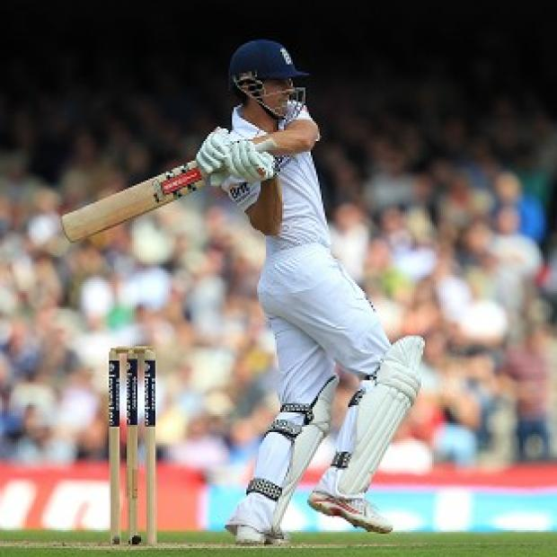 Alastair Cook was closing in on his 23rd Test century in England's reply