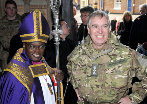 Royal welcome home as soldiers parade through York