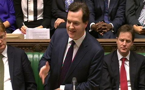 Chancellor of the Exchequer George Osborne delivers his autumn statement in the House of Commons