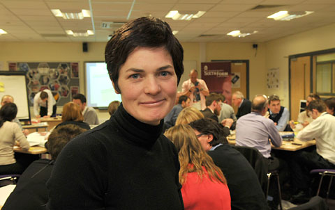 Dame Ellen MacArthur at the circular economy workshop held at Archbishop Holgate's School