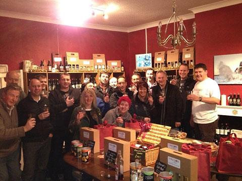 Customers and staff at the launch of Genesis at the Yorkshire Ales shop in Snaith