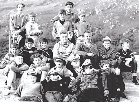 Pupils and staff from the old St George's School on an outing in the 1950s.