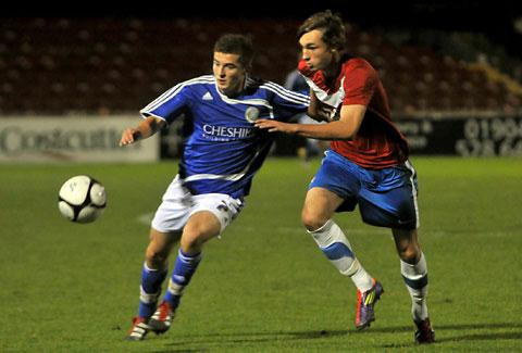 Defender Tom Allan, right, has won a pro deal with York City