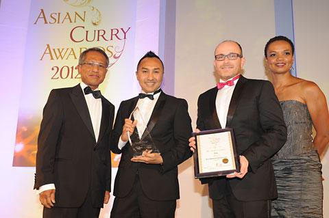 From left, Sri Zakaria Sulong,  Malaysian High Commissioner to the UK, Norman Musa,  executive chef and co-owner of Ning, Andy Spracklen, chief executive and co-owner of Ning and Lukwesa Burak