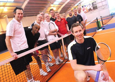 Wimbledon doubles  champion Jonny Marray is pictured with members of York's David Lloyd Centre