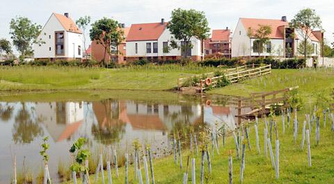 Jubilee Pond at the Derwenthorpe development