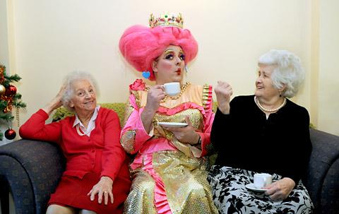 Sleeping Beauty pantomime stars visit care home