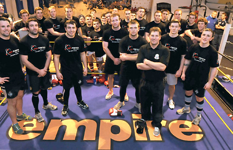Training session boost for Knights at boxing gym