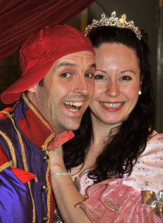 Matt Dallen and Carley Nickson who are starring in the Grand Opera House panto and are getting married in real life