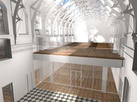 An artist's impression of the new gallery in the roof at York Art Gallery after a £8 million revamp