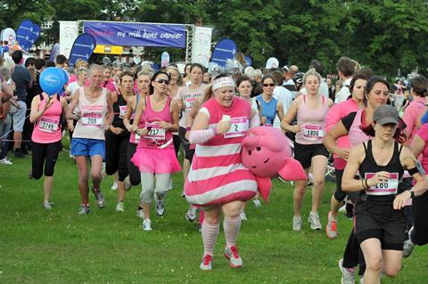 The start of last year's York Race for Life