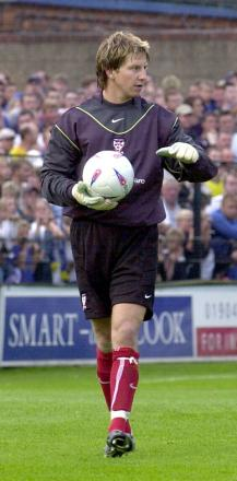 Goalkeeper Chris Porter in his early days as York City's last man standing