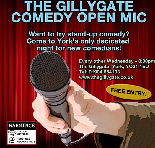 The Gillygate - Comedy Open Mic