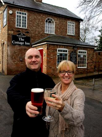 Paul and Diane Watkinson, who have just taken over The Cottage, Haxby
