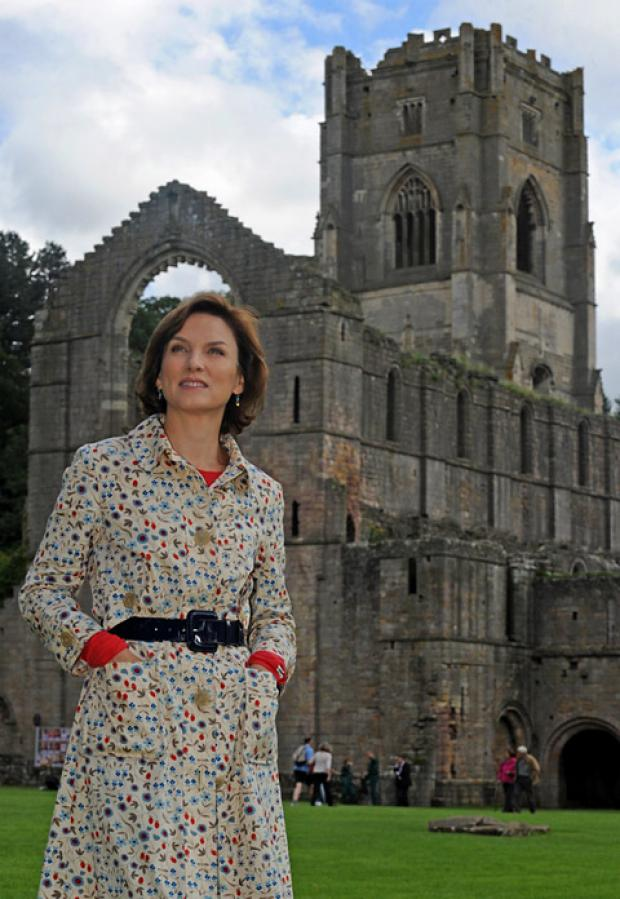 Fiona Bruce at Fountains Abbey