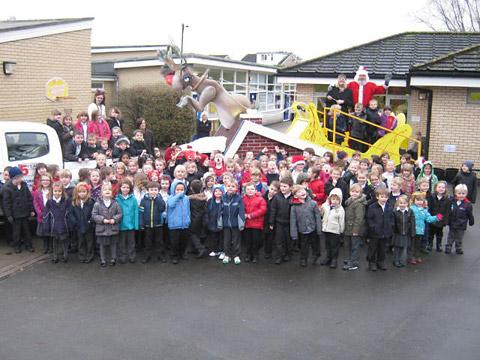 Santa visits Woodthorpe school