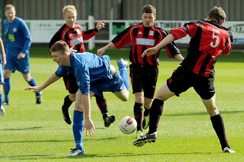Pickering Town's Tom Fenwick is back in contention for today's trip to Glasshoughton