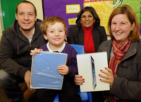 Selby charity donate iPads to Hemingbrough Primary School