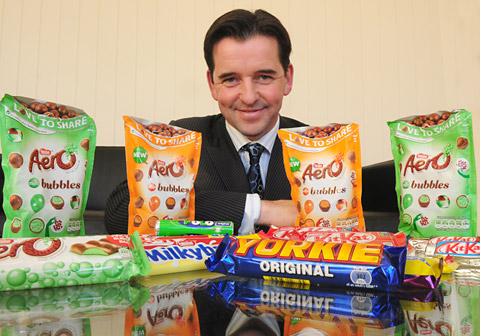 The new managing director of Nestlé Confectionary, Ciaran Sullivan
