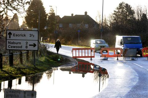A19 closed due to flooding