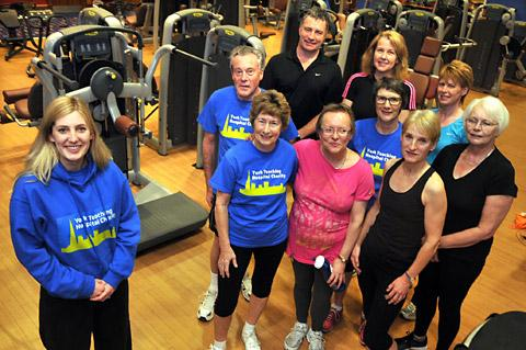 York Press: Lucy Watson with the StarStrikers-York who have raised £2,122 for Yo