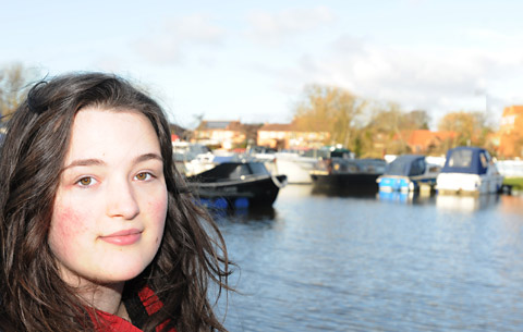 Leah Curtis, who plunged into the freezing river to save a man