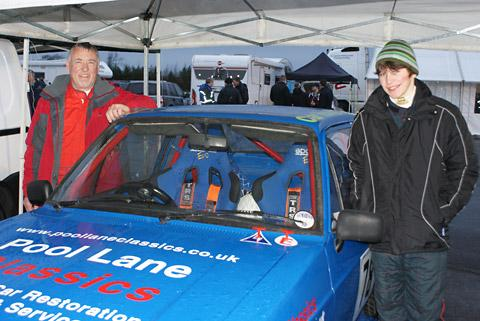 Peter Williams, left, and new co-driver Josh Pulleyn