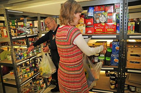 York Press: Volunteers work at the food bank at the Acomb Gateway Centre