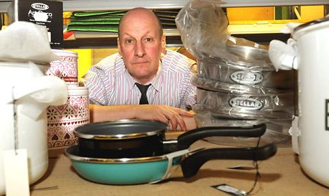 Paul Woollons, of Woollons & Harwood, inside the firm's warehouse on the York Road Industrial Estate in Malton