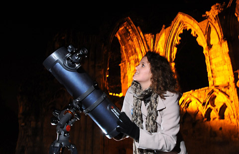 Emma Alexander, of York Astronomical Society, at last year's Stargazing event