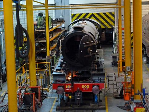 Flying Scotsman being renovated at the National Raiwlay Museum. Picture: Nick Fletcher